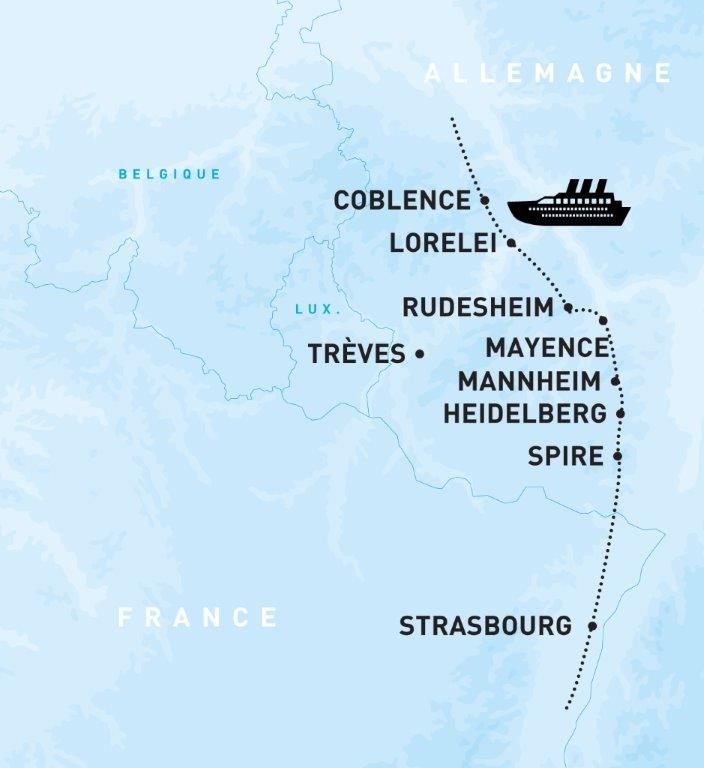 Croisière sur le Rhin Romantique, région Grand-Ouest & Paris