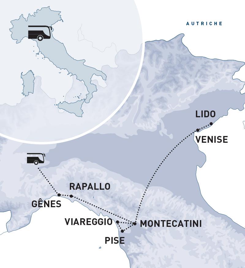 Autocar - Carnaval en Toscane et Mardi Gras à Venise : Parades et défilés exceptionnels - Région Ouest & Paris